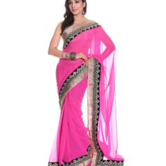 Aaditri-Pink-Embroidered-Semi-Chiffon-Saree