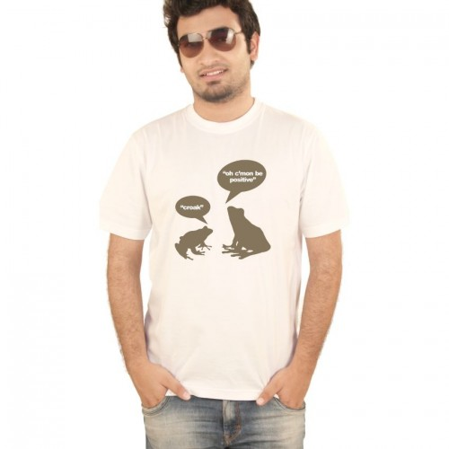 Hung Shoe Croak Croak Men's White T-shirt
