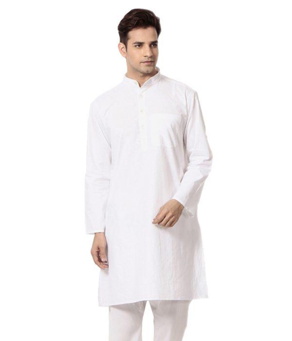Royal Kurta White Pure Giga Cotton Occasional Kurta Pyjama Set