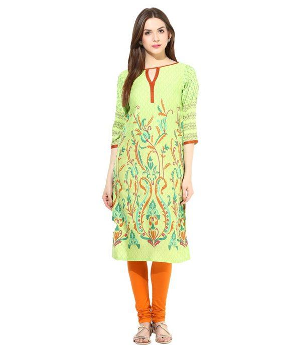 Shakumbhari Green Kurta