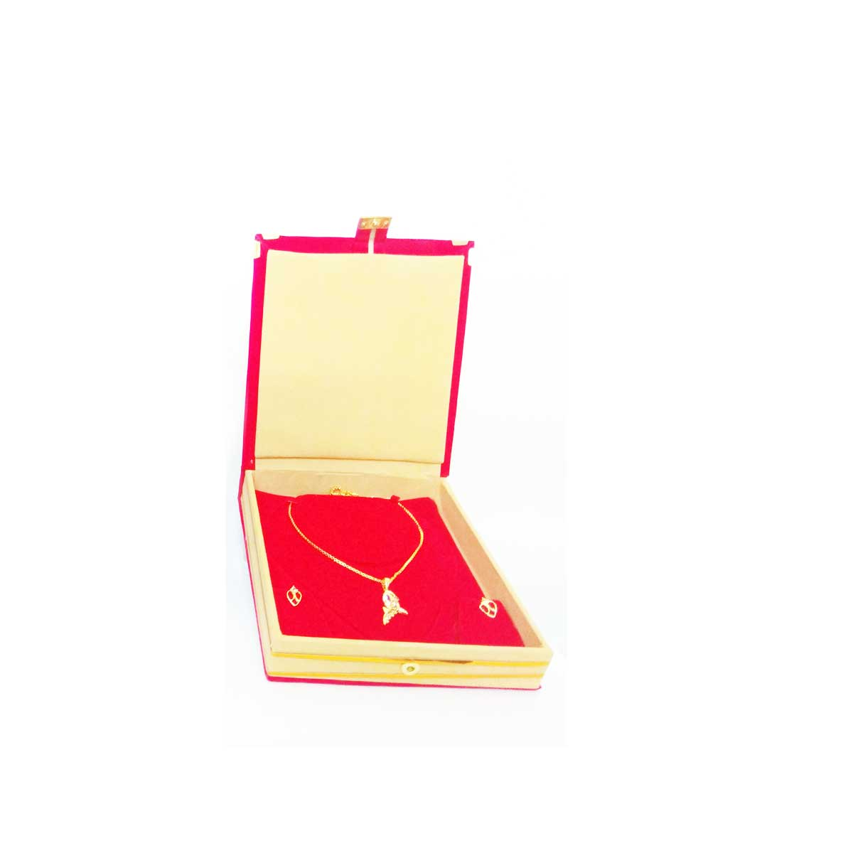 Fashiondakia Gold Plated Perfect Love Pendant Jewelry Set