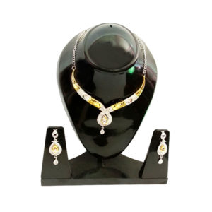 Gold-Plated-Necklace-with-earrings