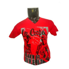 Lee-Copper--Red-Tshirt-with-Screen-Print