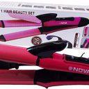 NOVA Nhc-2009 2 In 1 Hair Straightener & Curler-box