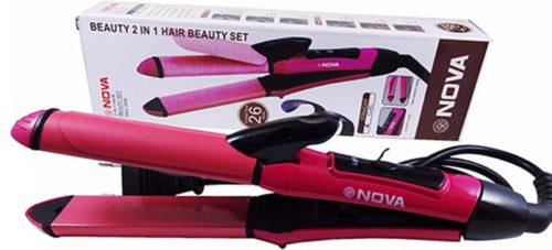NOVA Nhc-2009 2 In 1 Hair Straightener & Curler-box